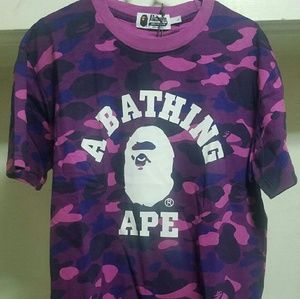 Bape purple college camo Tee